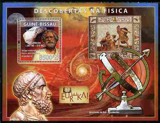 Guinea - Bissau 2008 Pioneers of Physics perf souvenir sheet unmounted mint Michel BL 679