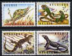 Belgium 1965 Reptiles of Antwerp Zoo perf set of 4 unmounted mint, SG 1943-46