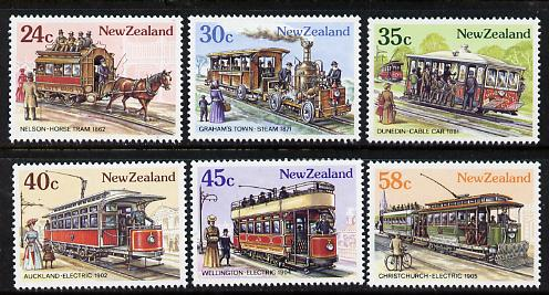 New Zealand 1985 Vintage Trams set of 6 unmounted mint, SG 1360-65