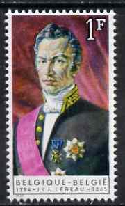 Belgium 1966 Death Centenary of Joseph Lebeau (statesman) unmounted mint, SG 1948