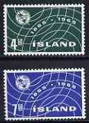 Iceland 1965 ITU Centenary perf set of 2 unmounted mint, SG 421-22