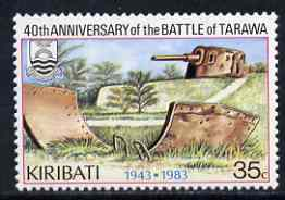 Kiribati 1983 Battle of Tarawa 35c with wmk reading upwards unmounted mint, SG 212w