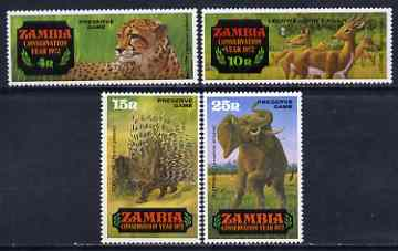Zambia 1972 Conservation Year (1st issue) set of 4 unmounted mint, SG 168-71