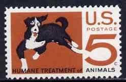 United States 1966 Humane Treatment of Animals 5c unmounted mint, SG 1287