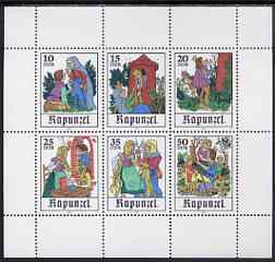 Germany - East 1978 Fairy Tales Rapunzel by Brothers Grimm perf sheetlet containing set of 6 values unmounted mint, SG E2092a