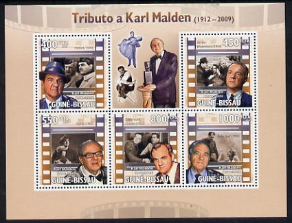 Guinea - Bissau 2009 Tribute to Karl Malden perf sheetlet containing 5 values unmounted mint