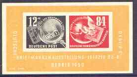 Germany - East 1950 German Stamp Exhibition imperf m/sheet unmounted mint, SG MS E29a
