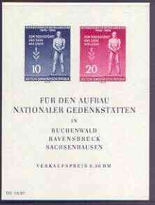 Germany - East 1955 International Liberation Day imperf m/sheet unmounted mint, SG MS E208a