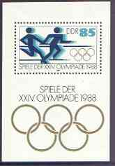 Germany - East 1988 Seoul Olympic Games perf m/sheet (relay) unmounted mint, SG MS E2892