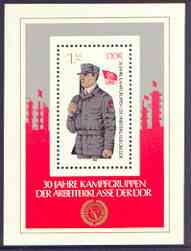 Germany - East 1983 30th Anniversary of Workers' Militia perf m/sheet unmounted mint, SG MS E2541