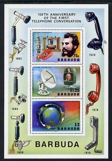 Barbuda 1977 Telephone Centenary m/sheet unmounted mint, SG MS 297
