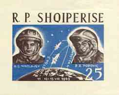 Albania 1963 First 'Team' Manned Space Flights imperf m/sheet unmounted mint, as SG MS 741a, Mi BL18