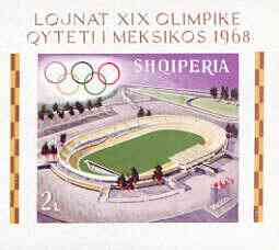 Albania 1968 Mexico Olympic Games imperf m/sheet (stadium) unmounted mint, as SG MS 1275, Mi BL33B