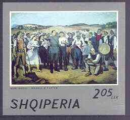 Albania 1974 Albanian Paintings imperf m/sheet (Comrades) unmounted mint, SG MS 1701