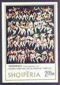 Albania 1975 Albanian Paintings imperf m/sheet (Folk Dance) unmounted mint, SG MS 1777