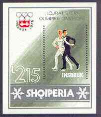 Albania 1986 Innsbruck Winter Olympic Games perf x imperf m/sheet (Figure Skating) unmounted mint, SG MS 1821
