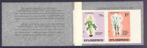 Booklet - Albania 1986 Flowers 1L45 booklet complete (containing imperf pane from a limited printing) unmounted mint, as SG SB1