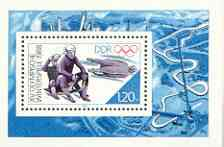 Germany - East 1988 Calgary Winter Olympics perf m/sheet (Luge) unmounted mint, SG MS E2847