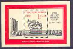 Germany - East 1987 750th Anniversary of Berlin (3rd issue) perf m/sheet (memorial) unmounted mint SG MS E2828
