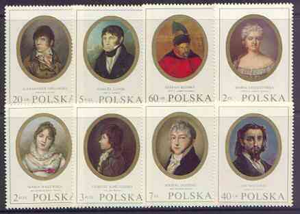 Poland 1970 Polish Miniatures perf set of 8 unmounted mint, SG 1998-2005