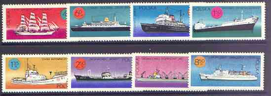 Poland 1971 Polish Ships perf set of 8 unmounted mint, SG 2030-37