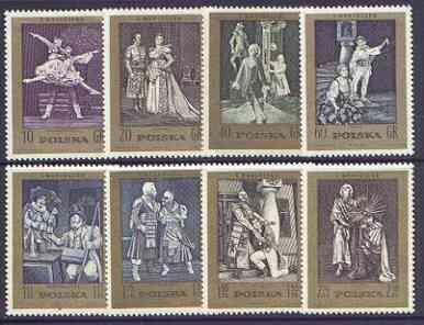 Poland 1972 Death Centenary of Stanislaus Moniuszko (composer) perf set of 8 unmounted mint, SG 2159-66