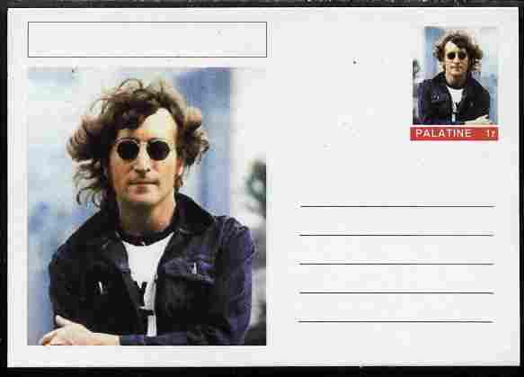 Palatine (Fantasy) Personalities - John Lennon postal stationery card unused and fine