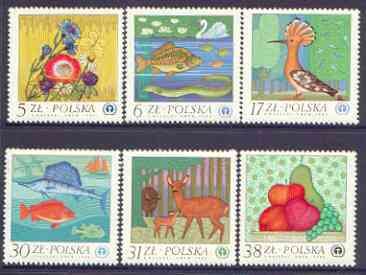 Poland 1983 Environmental Protection perf set of 6 unmounted mint, SG 2863-68