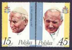 Poland 1987 Third Papal Visit perf set of 2 unmounted mint, SG 3112-13
