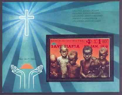 Nigeria - Biafra 1969 Second Anniversary imperf m/sheet opt