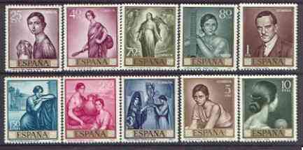 Spain 1965 Stamp Day & Torres Commemoration set of 10 unmounted mint, SG 1718-27