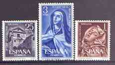 Spain 1962 Teresian Reformation perf set of 3 unmounted mint, SG 1489-91