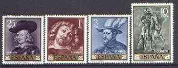 Spain 1962 Rubens Paintings perf set of 4 unmounted mint, SG 1495-98