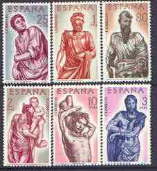 Spain 1962 400th Death Anniversary of Alonso Berruguete (sculptor) perf set of 6 unmounted mint, SG 1499-1504