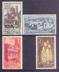 Spain 1963 Poblet Monastery perf set of 4 unmounted mint, SG 1555-58