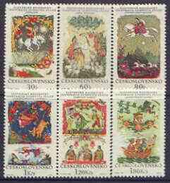 Czechoslovakia 1968 Slovak Fairy Tales perf set of 6 unmounted mint, SG 1795-1800