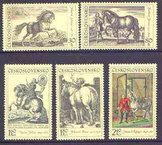 Czechoslovakia 1969 Horses Works of Art perf set of 5 unmounted mint, SG 1821-25