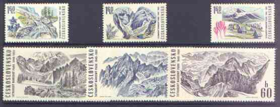 Czechoslovakia 1969 Tatra National Park perf set of 6 unmounted mint, SG 1843-48