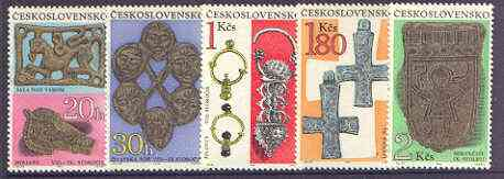Czechoslovakia 1969 Archaeological Discoveries perf set of 5 unmounted mint, SG 1849-53
