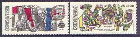 Czechoslovakia 1971 UNESCO - World Anniversaries perf set of 2 unmounted mint, SG 1949-50