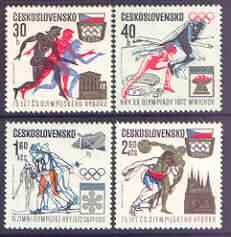 Czechoslovakia 1971 Olympic Committee perf set of 4 unmounted mint, SG 2011-14