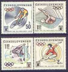 Czechoslovakia 1972 Munich Olympics perf set of 4 unmounted mint, SG 2031-34