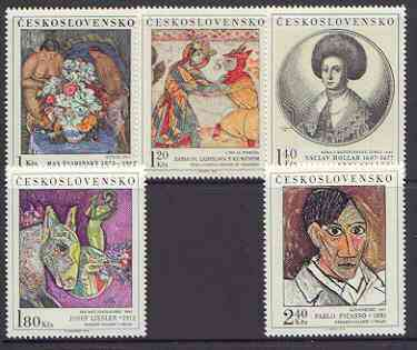Czechoslovakia 1972 Art (7th issue) set of 5 unmounted mint, SG 2067-71