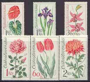 Czechoslovakia 1973 Olomouc Flower Show perf set of 6 unmounted mint, SG 2110-15