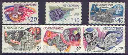 Czechoslovakia 1973 Cosmonautics Day perf set of 6 unmounted mint, SG 2094-99