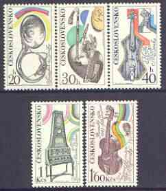 Czechoslovakia 1974 Musical Instruments perf set of 5 unmounted mint, SG 2165-69