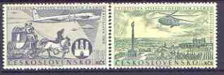 Czechoslovakia 1960 National Philatelic Exhibition (2nd issue) perf set of 2 unmounted mint, SG 1183-84