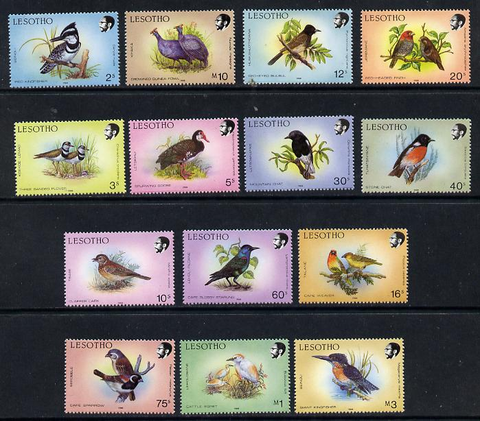 Lesotho 1988 Birds definitives (ex 55s) unmounted mint SG 791-799 & 801-5)