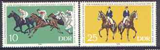 Germany - East 1979 Congress on Horse Breeding perf set of 2 unmounted mint, SG E2159-60