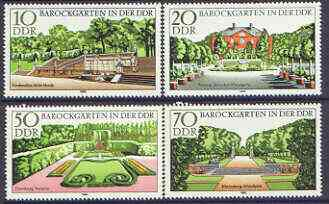 Germany - East 1980 Baroque Gardens perf set of 4 unmounted mint, SG E2193-96